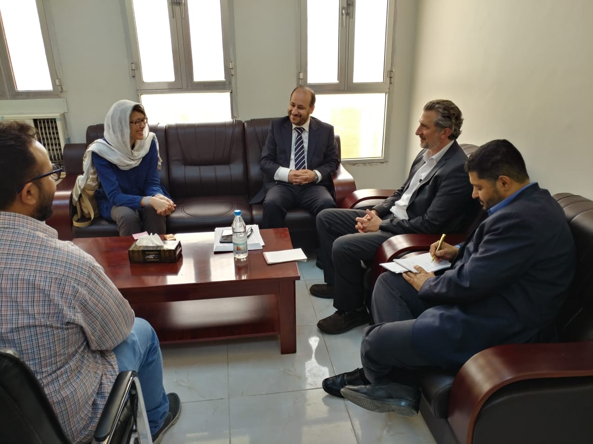 Minister of Planning Meets Doctors Without Borders and Director of OCHA Office in Aden
